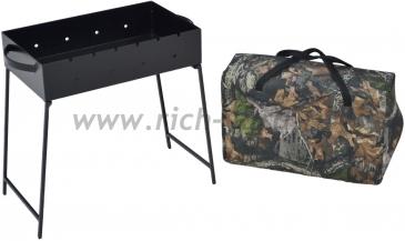 Складной мангал МС-5 в сумке или коробке (толщина стали 2 мм)