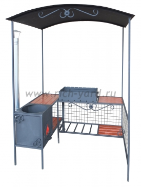 Мангал ММ-20П с печью под казан