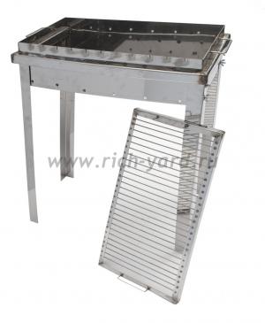 Мангал дачный Добрый жар 60х30х15 см (толщина стали 3 мм)