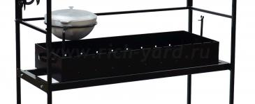Кованый мангал с крышей разборный МКР (сталь 4 мм)