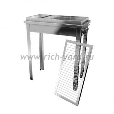 Мангал гриль Добрый жар 50х30х15 см (нержавеющая сталь 2 мм)