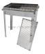Мангал барбекю Добрый жар 50х30х15 см (нержавеющая сталь 3 мм)